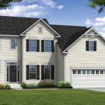 The Magnolia: Elevation 1 with Siding