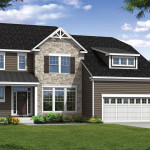 The Magnolia: Elevation 2 with Partial Stone Front