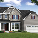The Magnolia - Elevation 3 with Partial Stone Front