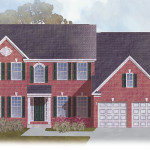 The Sycamore: Elevation 1 with Brick Front