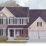 The Sycamore: Elevation 2 with Partial Stone front